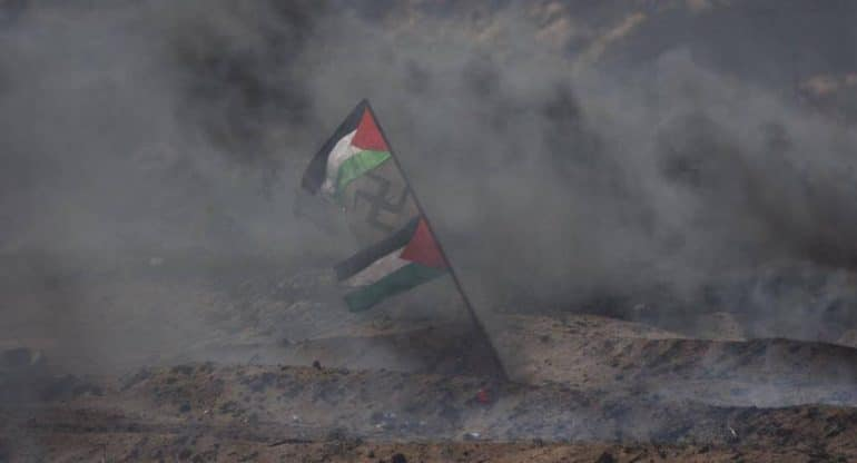 gaza foto simbolo nazismo 1