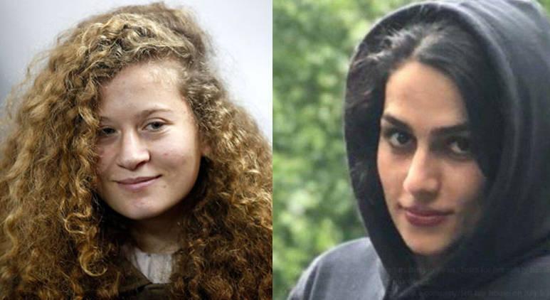 Ahed Tamimi e Maryam Faraji