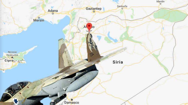 israele bombarda in siria